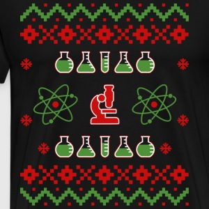 Ugly Christmas Sweater Science - Miesten premium t-paita
