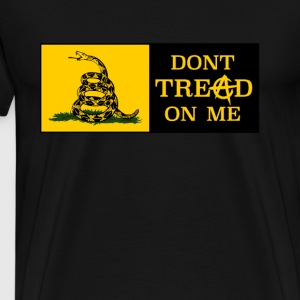 DONT TREAD ON ME ANARCHOCAPITALISM - Herre premium T-shirt