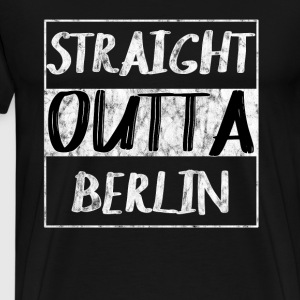 Straight Outta Berlin T-Shirt - Premium T-skjorte for menn