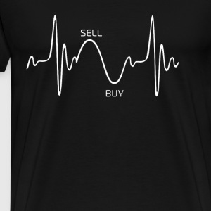 Heartbeat Design 1 - Premium T-skjorte for menn