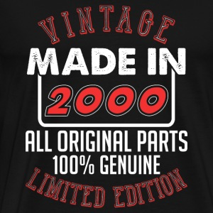 Vintage Made in 2000 - T-shirt Premium Homme