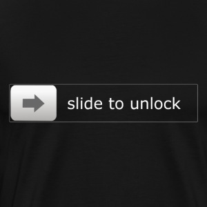 slide to unlock - Männer Premium T-Shirt