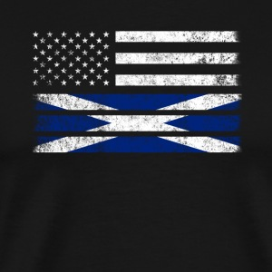 Scottish American Flag - USA Schottland Hemd - Männer Premium T-Shirt