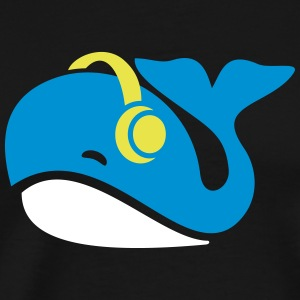 Whale - whales with headphones - gift - Men's Premium T-Shirt