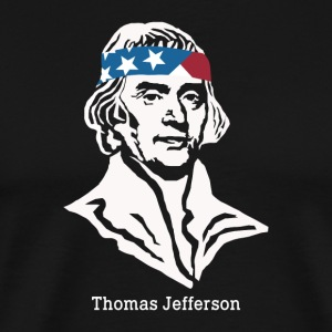 President Thomas Jefferson amerikanske Patriot Vintag - Premium T-skjorte for menn