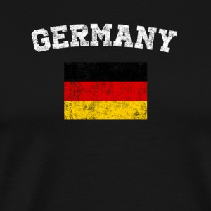 German Flag Shirt - Vintage Germany T-Shirt - Men's Premium T-Shirt