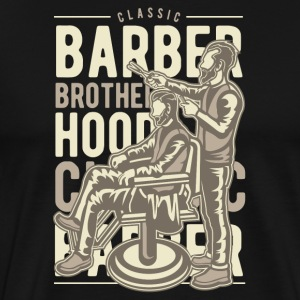 Barber Brotherhood - Premium T-skjorte for menn