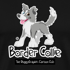 CartoonClub Merle Border Collie - Mannen Premium T-shirt