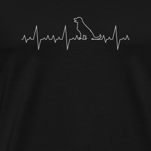 Dog Pet Dogs Heartbeat Heartbeat Dog - T-shirt Premium Homme