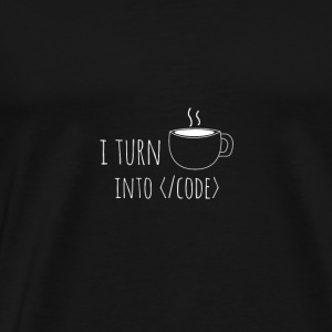 I turn into code - Men's Premium T-Shirt