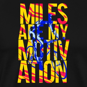 Miles mijn motivatie - Mannen Premium T-shirt