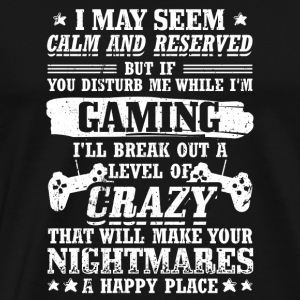 Funny Gamer Gaming Shirt Reserved - Männer Premium T-Shirt