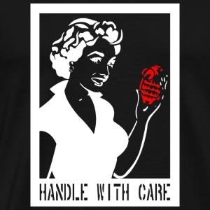 Handle with care in white - Men's Premium T-Shirt