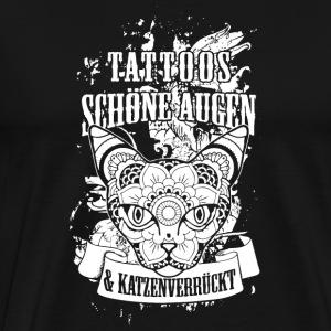 suchbegriff 39 katze tattoo 39 t shirts online bestellen spreadshirt. Black Bedroom Furniture Sets. Home Design Ideas