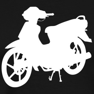 Silhouette moped moped scooter