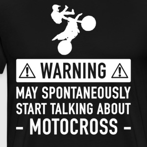 Motocross Funny Gift Idea - Men's Premium T-Shirt