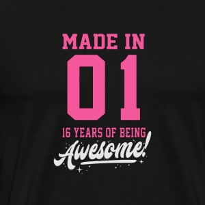 MADE IN 2001 - 16e anniversaire - T-shirt Premium Homme