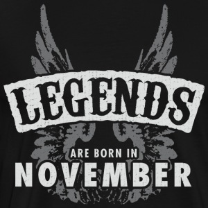 Legends are born in November Wings - Men's Premium T-Shirt