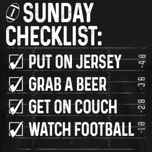 American Football Sunday Checklist - Männer Premium T-Shirt