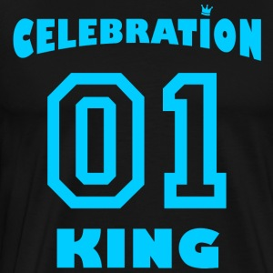 Celebration King mit Krone - Männer Premium T-Shirt