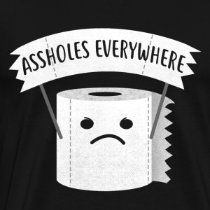 Arschlöcher everywhere / funny Klopapier - Men's Premium T-Shirt