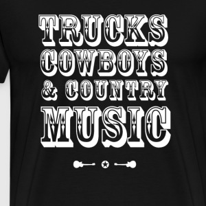 trucks cowboys country music westen - Männer Premium T-Shirt