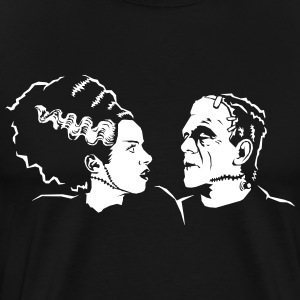 Mr. og Mrs. Frankenstein - Premium T-skjorte for menn
