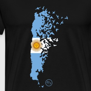 Flying / Argentina - Herre premium T-shirt