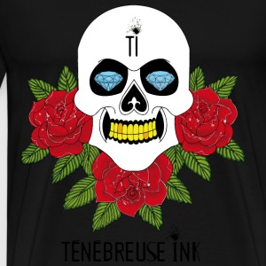 Skull & Roses - Darkover Ink - Men's Premium T-Shirt