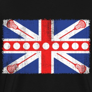 Vintage Flag > UK Flag with Lacrosse Bats - Männer Premium T-Shirt