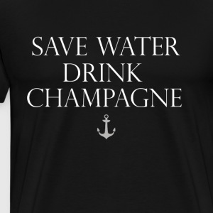Champagne dricka party spell motto Anchor Water - Premium-T-shirt herr