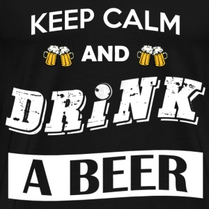 Keep calm and drink a beer - Maglietta Premium da uomo