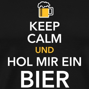 Keep calm und hol Bier Bierkasten Grillparty Wiesn - Männer Premium T-Shirt