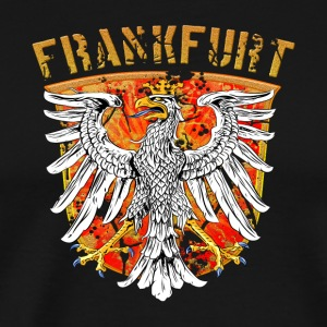 Frankfurt city Wappenadler Design - Gold Edition - Men's Premium T-Shirt