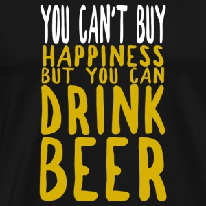 BIER - You cant buy happiness, but you drink beer - Männer Premium T-Shirt