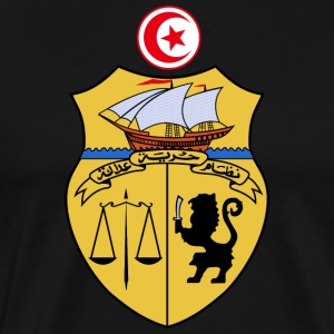 Tunisia Coat of Arms - Men's Premium T-Shirt