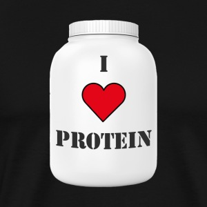 I LOVE PROTEIN - Men's Premium T-Shirt