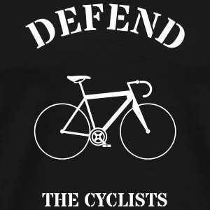 Rennrad Defend The Cyclists - Männer Premium T-Shirt