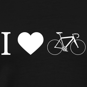 Road bike - I Love Cycling as silhouettes - Men's Premium T-Shirt