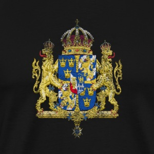 Swedish Coat of Arms Sweden Symbol - Premium-T-shirt herr