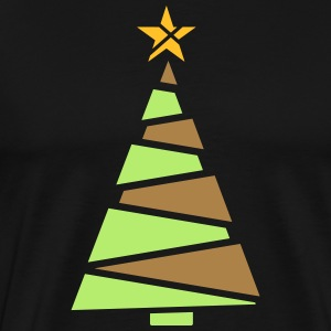 Christmas tree with tinsel - Men's Premium T-Shirt