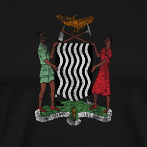 Zambia Coat of Arms Zambia Symbol - Men's Premium T-Shirt