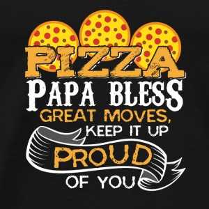 Pizza Papa roligt ord - Premium-T-shirt herr