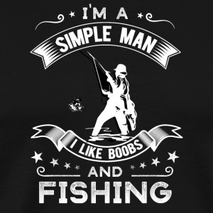 Tits and fish - Men's Premium T-Shirt