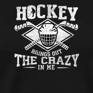 Crazy hockey spiller / HOCKEY - Premium T-skjorte for menn