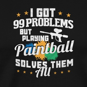99 Problemer / PAINTBALL - Herre premium T-shirt