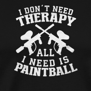 NO THERAPY / PAINTBALL - Men's Premium T-Shirt