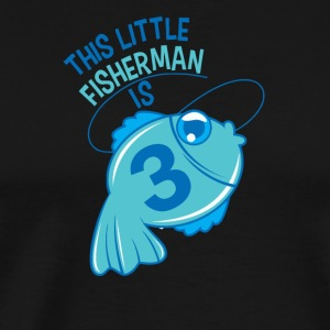 This Little Fisherman Is 3 Years Old - Men's Premium T-Shirt