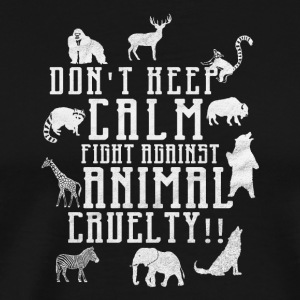 Against animal cruelty / animal protection - Men's Premium T-Shirt