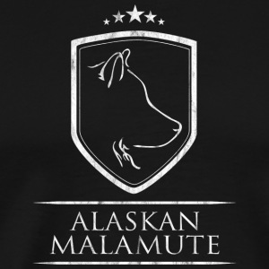 ALASKAN MALAMUTE COAT OF ARMS - Men's Premium T-Shirt